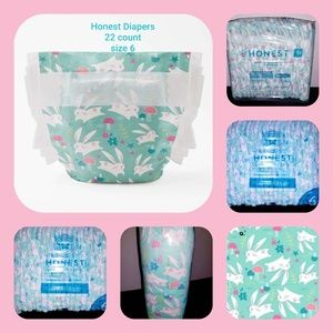Honest Diapers  22 count sleeve  size 6